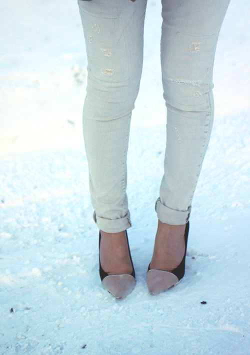 Snow & Two Toned Suede