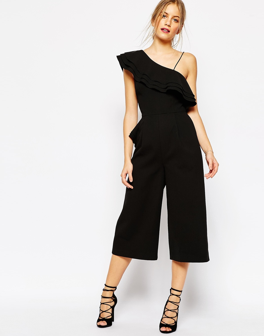 C/meo Collective Four Shadows Ruffle Jumpsuit in Black $266