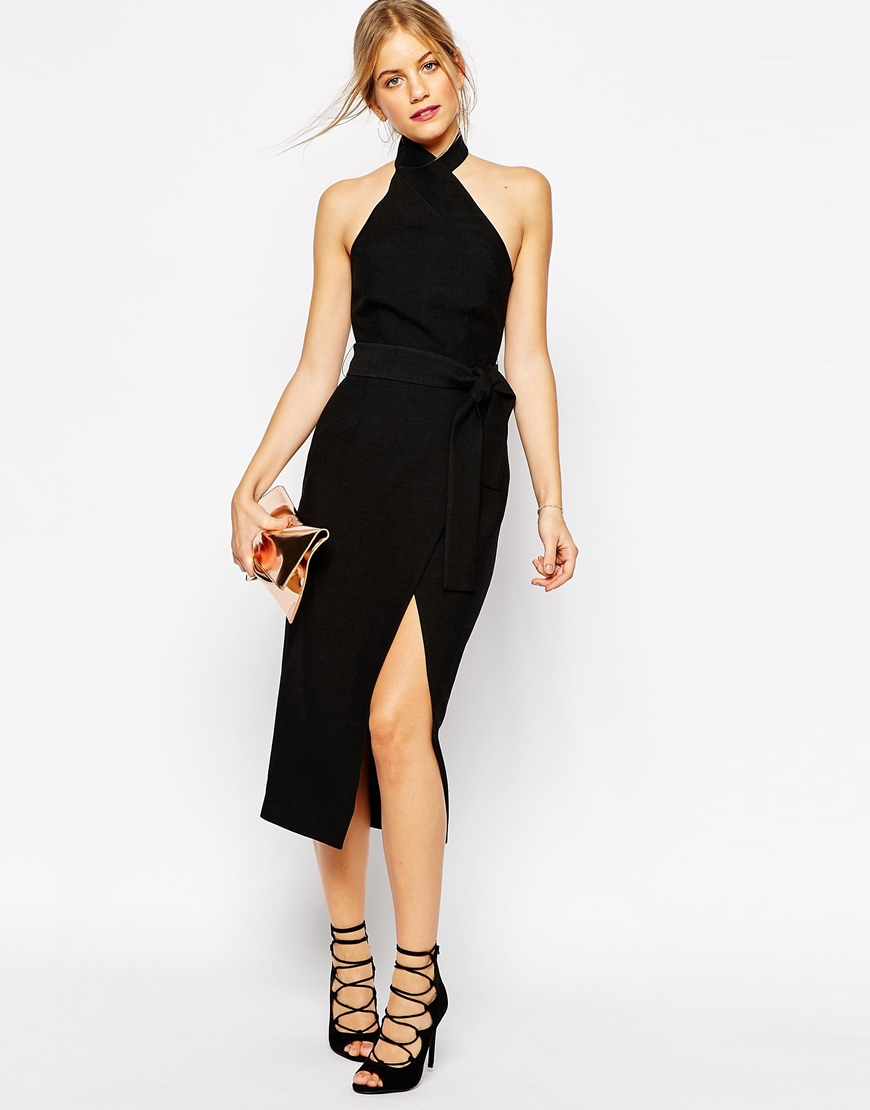 C/meo Collective Stand Still Midi Dress in Black