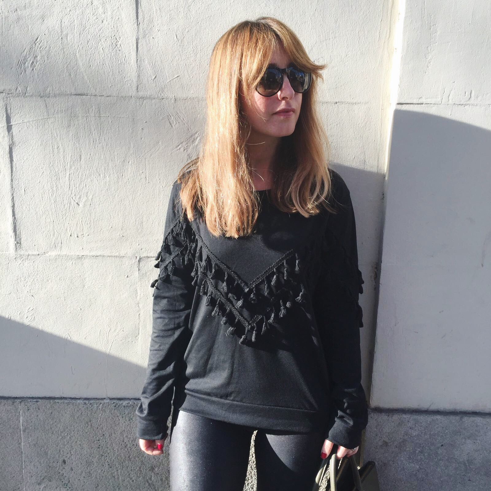 SheInside fringed sweatshirt